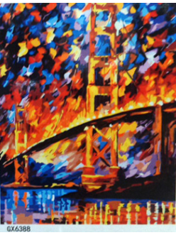 "РН GХ6388 ""Мост с двумя колоннами"", 40х50 см"