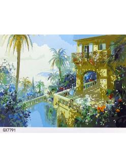 """РН GХ7791 """"Вид на пальму с балкона"""", 40х50 см"""