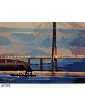 """РН GХ7595 Вантовый мост вечером"""", 40х50 см"""